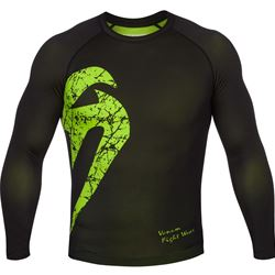 Venum Original Giant Longsleeve Rashguard - Black/Yellow