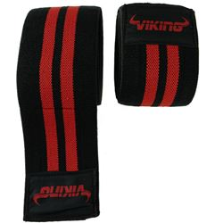 Viking Knee Wrap - Black/Red