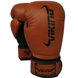 Viking Norse King Boxing Gloves - Vintage Brown/Black