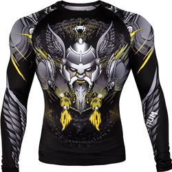 Venum Viking 2.0 Rashguard long Sleeve - Black/Yellow