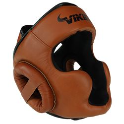 Viking Norse King Head Gear Nappa Leather - Brown