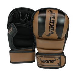 Viking Norse King MMA Sparring Glove - Brown/Black