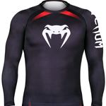 Venum No Gi Longsleeve Rashguard - Black/Red