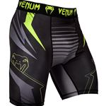 Venum Sharp 3.0 Vale Tudo Shorts - Black/Neo Yellow (With Cup Holder)
