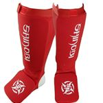 Shinobi Shin and Instep Guards - Red