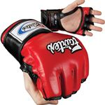 Fairtex FGV12 MMA Gloves Open Thumb - Red