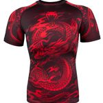 Venum Dragons Flight Rashguard Short Sleeve - Black/Red