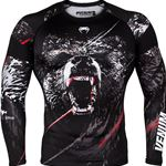 Venum Grizzli Rashguard Long Sleeve - Black/White