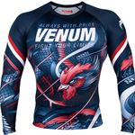 Venum Rooster Rashguard Long Sleeve - Blue/Red