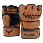 Viking Norse King MMA Glove Nappa Leather - Brown/Black