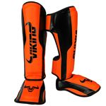Viking Chaos Shinguards - Black/Neo Orange