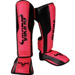 Viking Chaos Shinguards - Black/Neo Pink