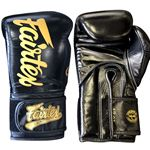 Fairtex BGVG1 Glory Hook and Loop Boxing Gloves - Black - Limited Edition