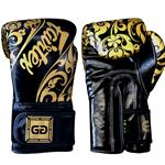 Fairtex BGVG2 Glory Hook and Loop Tribal Boxing Gloves - Black