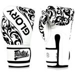 Fairtex BGVG2 Glory Hook and Loop Tribal Boxing Gloves - White