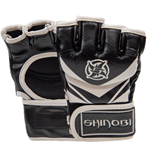 Shinobi Raven MMA Gloves - Black/White