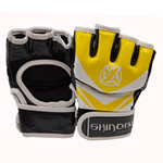 Shinobi Raven MMA Gloves - Yellow/White